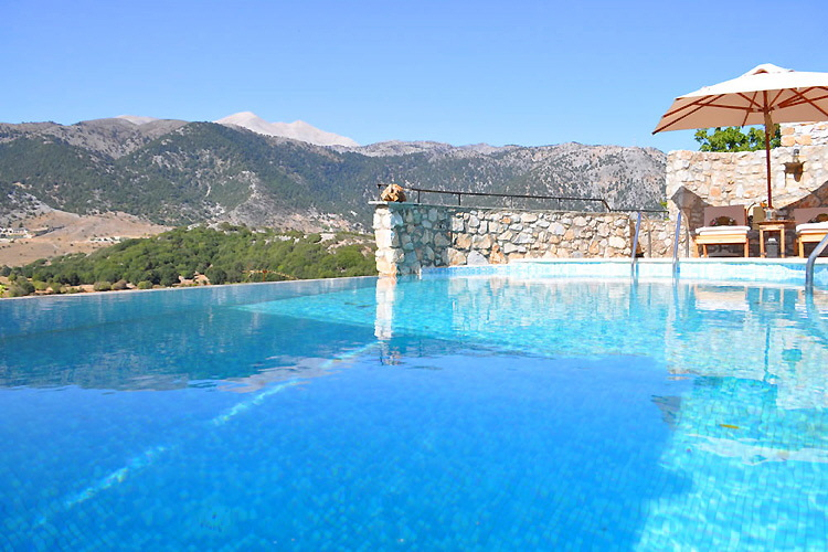 Swimming pool and mountain view