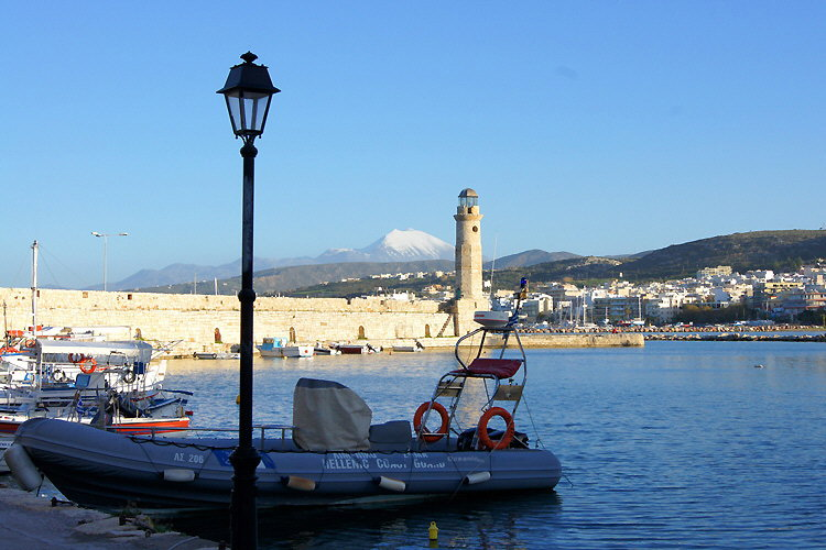 Rethymnon: Venetian lighthouse and Psiloritis